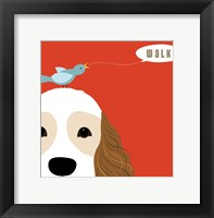 Peek-A-Boo Cocker Spaniel Framed Print