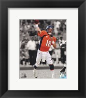 Framed Peyton Manning 2012 Spotlight Action