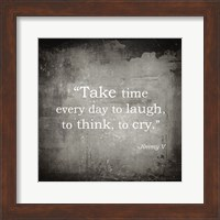 Framed Take Time, Jimmy V Quote