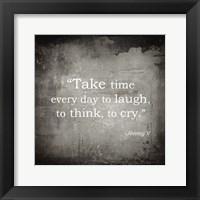 Framed Take Time, Jimmy V Quote