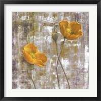Framed Yellow Flowers I