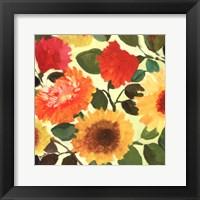Framed Passion Flowers I