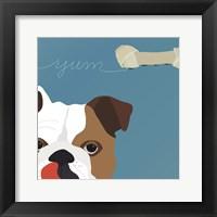 Framed Peek-A-Boo English Bulldog