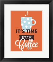 Framed Coffee Time (Orange)