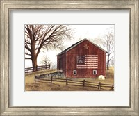 Framed Flag Barn