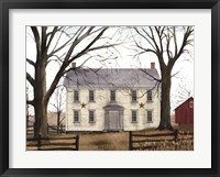 Framed Early American Home