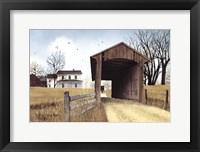 Framed Old Miller's Creek Bridge