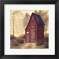 Framed Folk Art Outhouse II