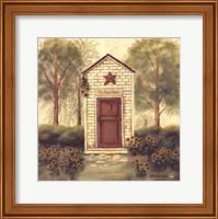 Framed Folk Art Outhouse III