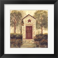 Framed Folk Art Outhouse III