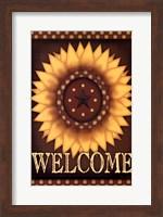 Framed Sunflower Welcome