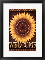 Framed Sunflower Welcome