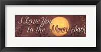 Framed To the Moon and Back quote