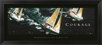 Framed Courage-Sailboats
