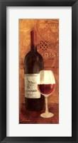 Framed Vin Rouge Panel II