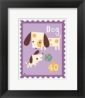 Framed Animal Stamps - Dog
