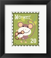Framed Animal Stamps - Monkey