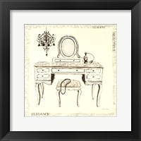 Framed Emily's Boudoir III Table