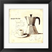 Parisian Coffee II Framed Print
