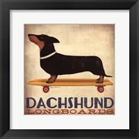 Framed Dachsund Longboards