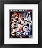 Framed San Francisco Giants vs. Detroit Tigers World Series Match-up Composite