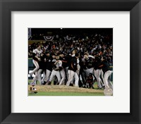 Framed San Francisco Giants Celebrate Winning Game 4 of the 2012 World Series