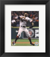 Framed Sergio Romo Celebrates Winning Game 4 of the 2012 World Series