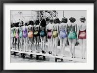 Framed Coney Island Line Up, 1935
