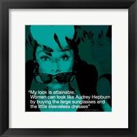 Framed Audrey Hepburn- Attainable