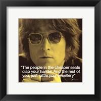 Framed John Lennon- Clap Your Hands