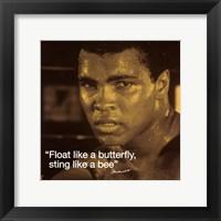 Framed Muhammad Ali- Butterfly