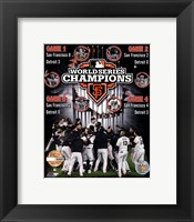 Framed San Francisco Giants 2012 World Series Champions PF Gold Composite - Limited Edition