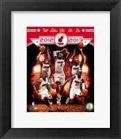 Framed Miami Heat 2012-13 Team Composite