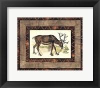 Framed Rustic Moose