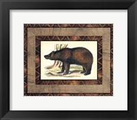 Framed Rustic Bear