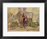 Framed Olive Oil Bottles