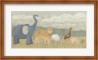 Framed Animals All in a Row I