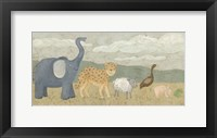 Animals All in a Row I Framed Print