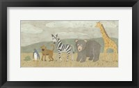 Animals All in a Row II Framed Print