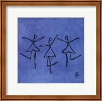 Framed Peace - Blue Dancers