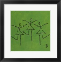 Love - Green Dancers Framed Print