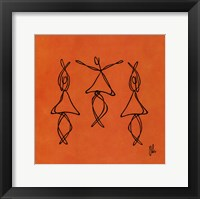 Framed Hope - Orange Dancers
