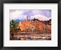 Framed Marina at Monaco