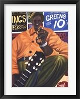 Mustard Green Blues Framed Print