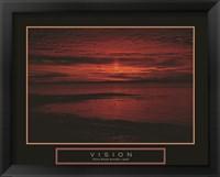 Framed Vision - Crimson Morning