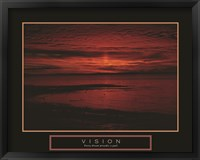 Framed Vision - Crimson Morning