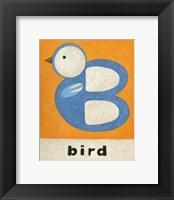Framed B is for Bird