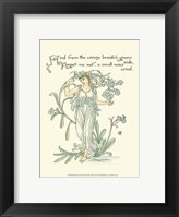 Framed Shakespeare's Garden VII (Forget me not)