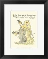Framed Shakespeare's Garden XI (Violet & Primrose)