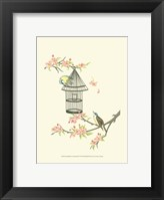 Framed Small Birds on a Branch II